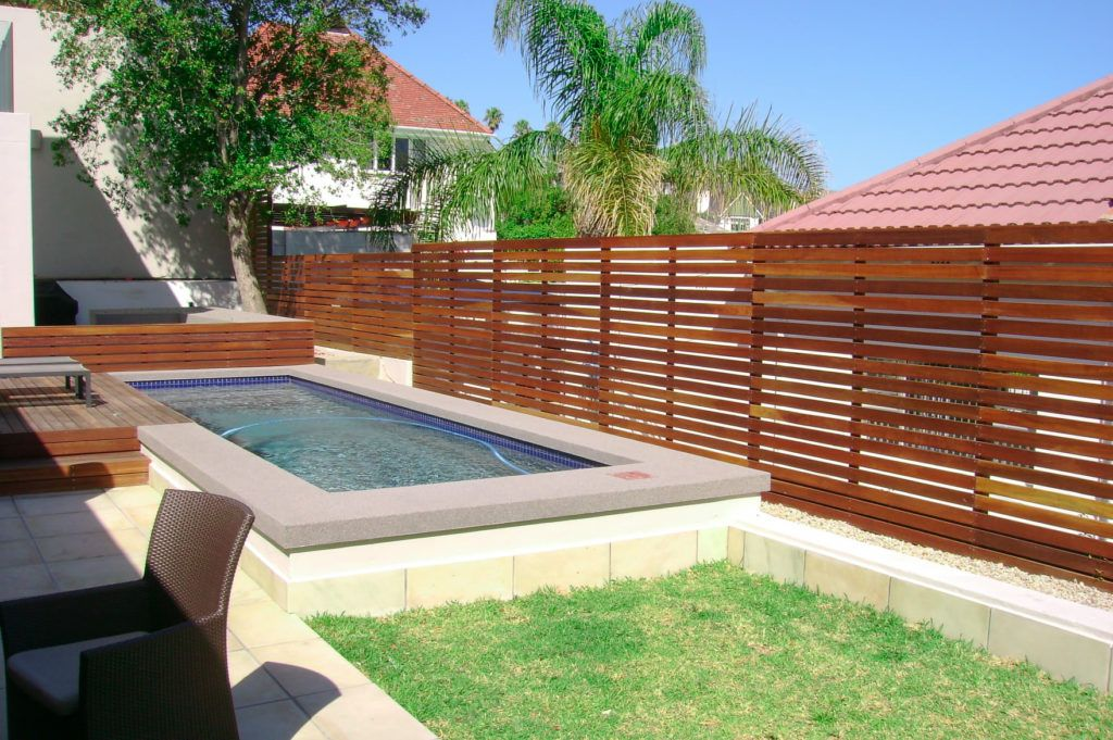 Horizontal timber fence