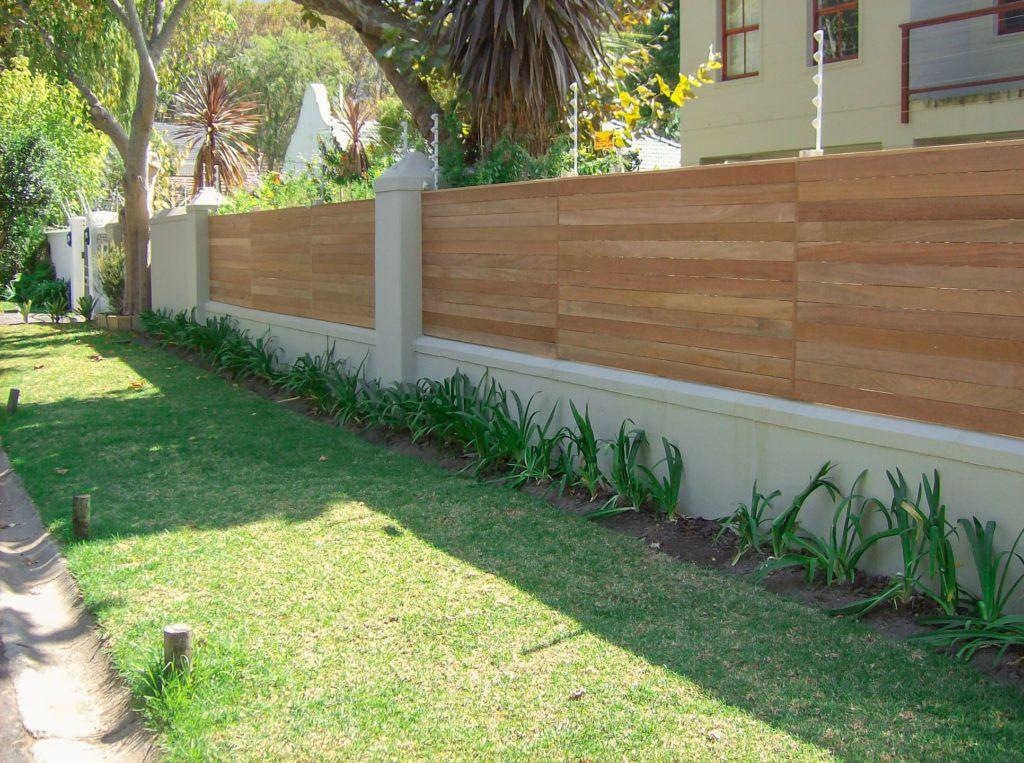 Beautiful wooden fence around garden