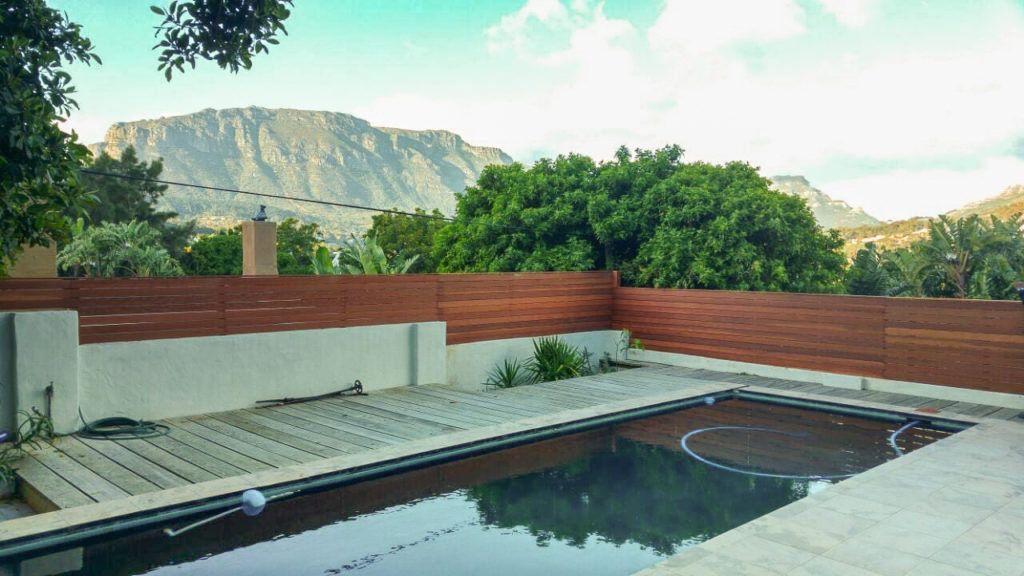 Wooden fence and privacy screen