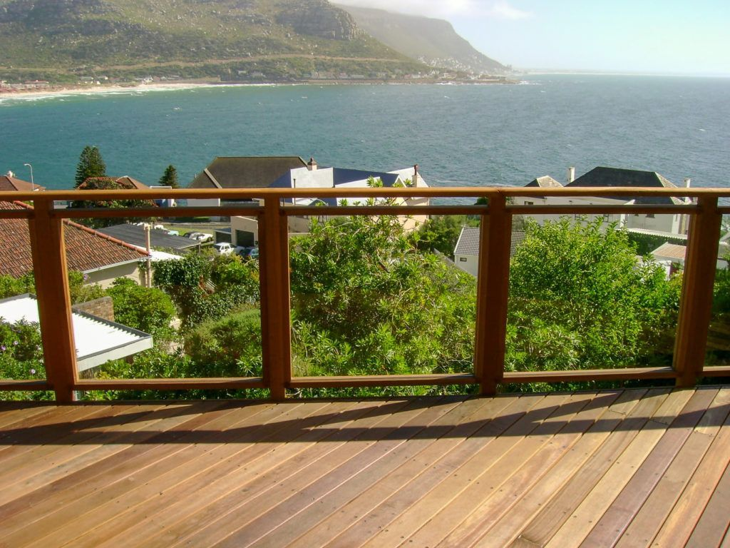 Wooden balustrade in Cape Town