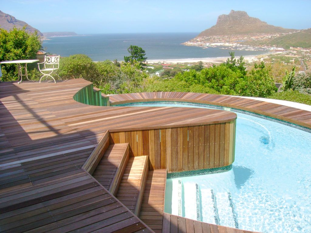 Pool deck and cladding
