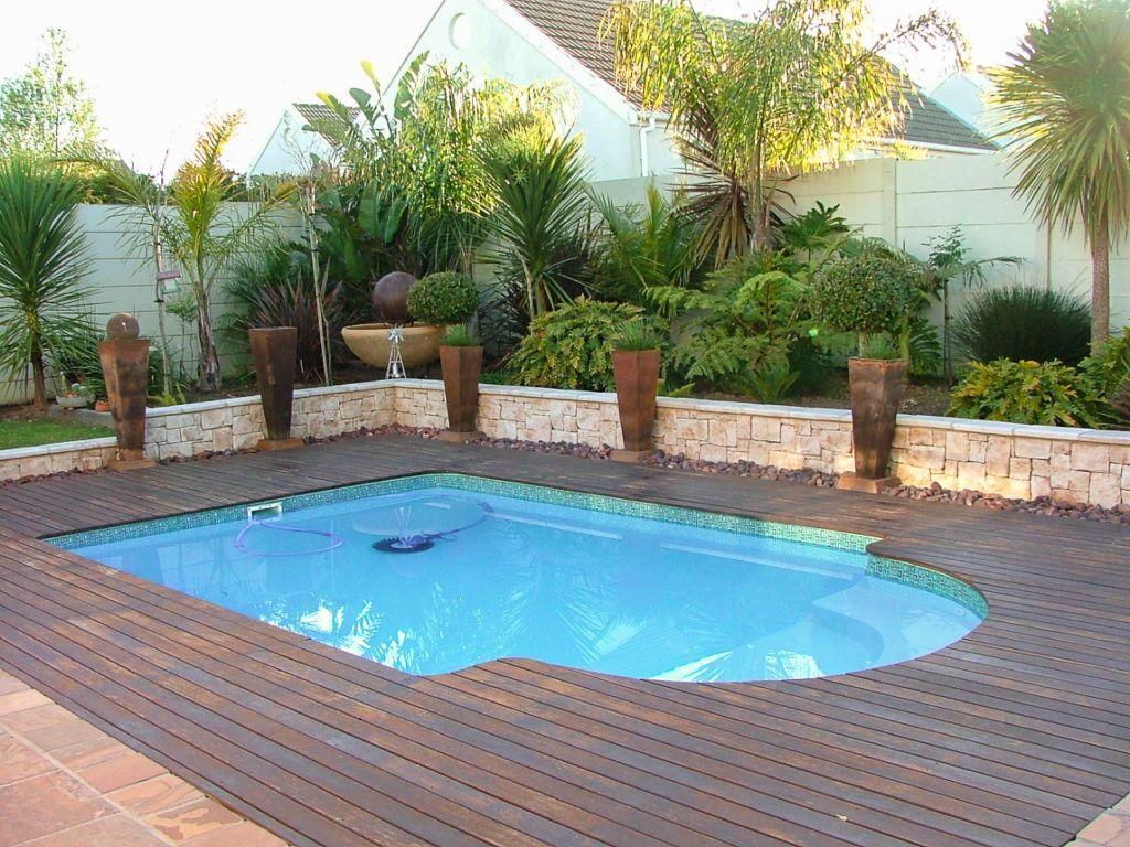 Treated Balau deck around pool